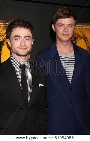 LOS ANGELES - OCT 3:  Daniel Radcliffe, Dane DeHaan at the