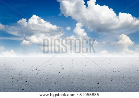 Endless concrete desert