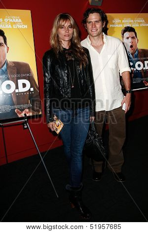 NEW YORK-OCT 3: Actors Susan Misner and Steven Pasquale attend the premiere of 'A.C.O.D.' at the Landmark Sunshine Theater on October 3, 2013 in New York City.