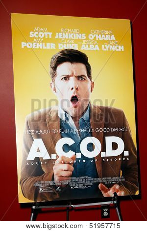 NEW YORK-OCT 3: General atmosphere at the premiere of 'A.C.O.D.' at the Landmark Sunshine Theater on October 3, 2013 in New York City.