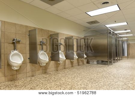 Modern Public bathroom with ceramic floors