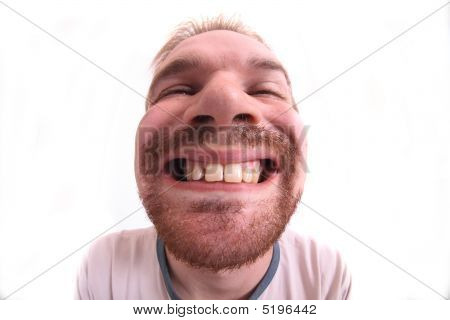 Man Is Opening Mouth
