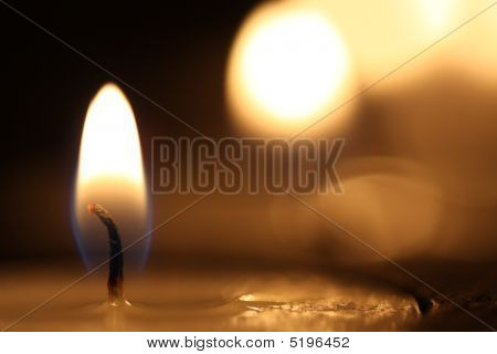 brennenden Flamme