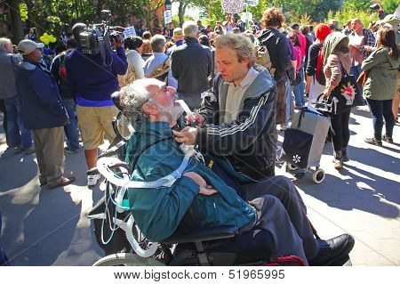 Disabled participation welcome at Washington Square Park
