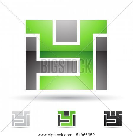 illustration of abstract icons based on the letter Y