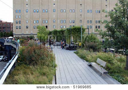 High Line.  New York City. Elevated Pedestrian Park