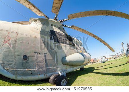 Togliatti, Russia - May 2: Heavy Military Transport Helicopter Mi-26