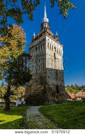 Tower of Saschiz, architecture in Transylvania