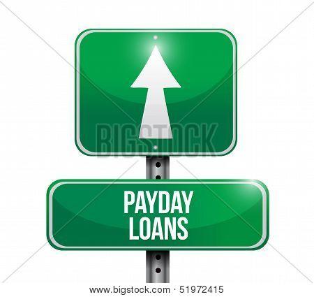 Payday Loans Road Sign Illustration Design