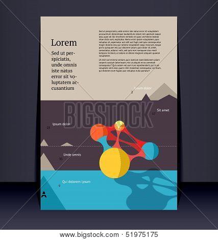 Flyer leaflet booklet layout. Editable design template