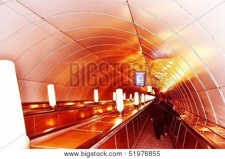 Escalator in the metro