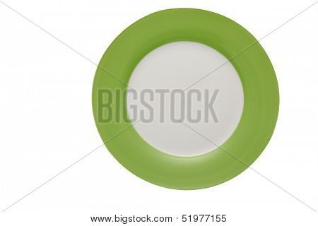 round plate with green board