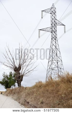 Electric Pylon In The Countryside
