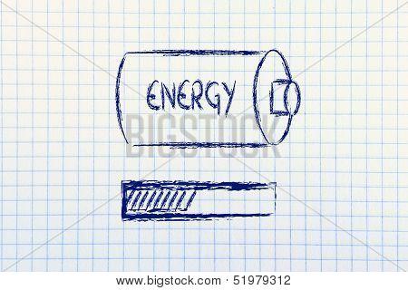 Energy Progress Bar Loading, Notepad Design