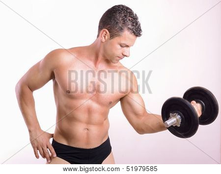 Lifting Weights Tough Guy