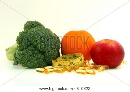 Fruit , Vegetable, Supplement And Measure Tape