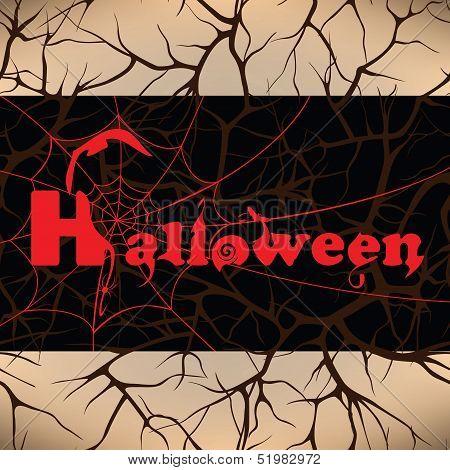 Halloween Design Background, Vector Illustration