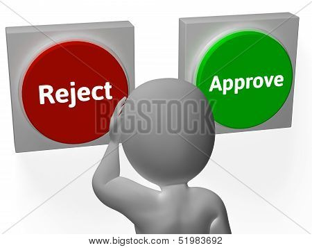 Reject Approve Buttons Show Refusal Or Accepted