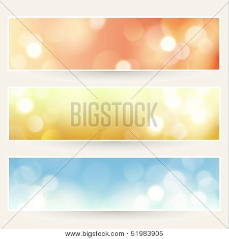 Defocused lights backgrounds set - eps10