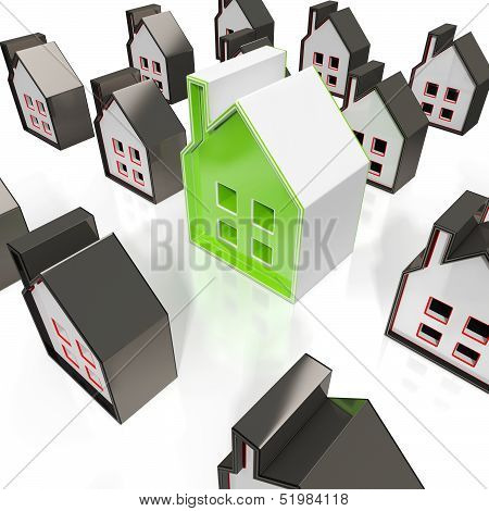 House Symbols Means Property For Sale