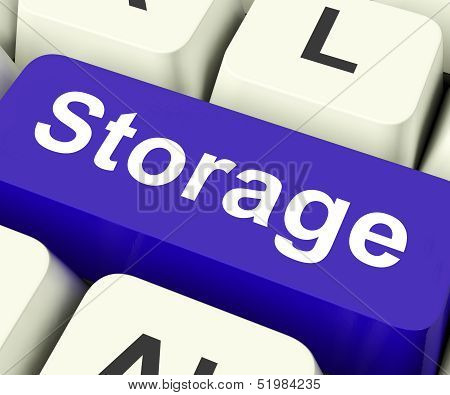 Storage Key Means Storage Unit Or Storeroom.