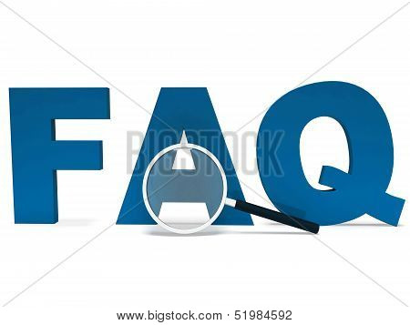 Faq Word Shows Faqs Advice Or Frequently Asked Questions