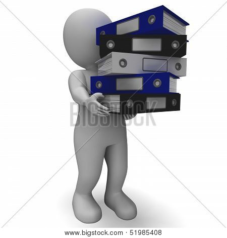 Organizing Clerk Carrying Organized Records
