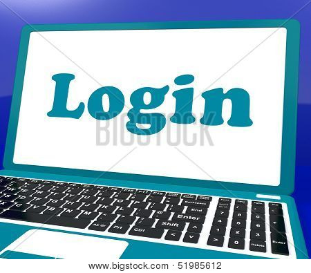 Login Computer Shows Website Log In Security