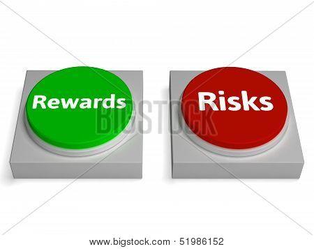 Risk Reward Buttons Shows Risks Or Rewards