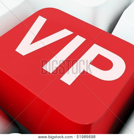 Vip Keys Show Influential Of Very Important Person.