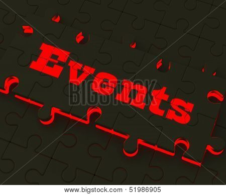 Events Puzzle Means Occasions Events Or Functions