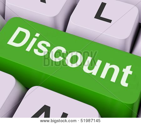 Discount Key Means Cut Price Or Reduce.