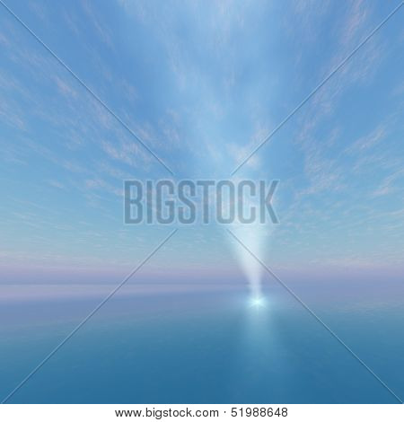 Point Spot Light Beacon To Sky