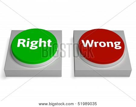Right Wrong Buttons Show True Or False