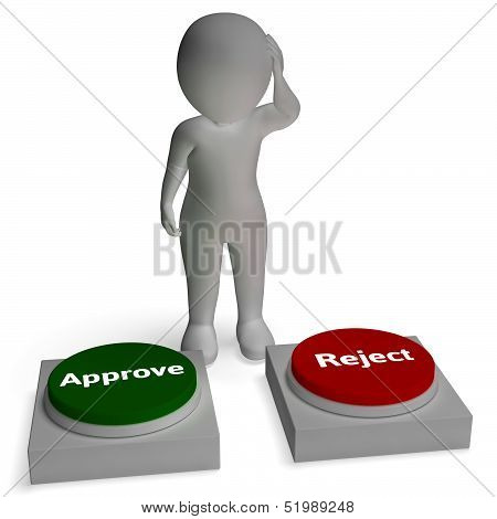 Approve Reject Buttons Shows Approval Or Rejection