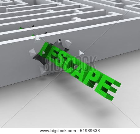 Escape From Maze Shows Liberated