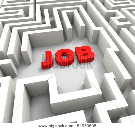 Job In Maze Showing Finding Jobs
