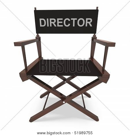 Director's Chair Shows Movie Producer Or Filmmaker