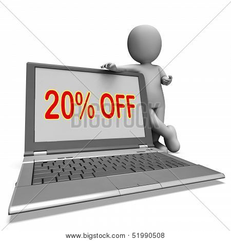 Twenty Percent Off Monitor Means Deduction Or Sale Online