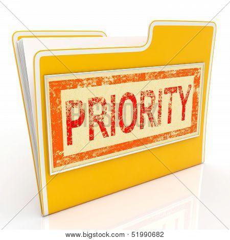 Priority File Shows Deadline Rush Immediate Delivery