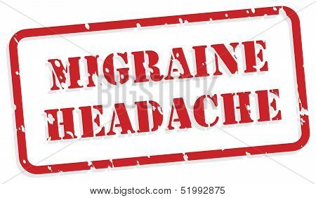 Sello de goma de dolor de cabeza de migraña