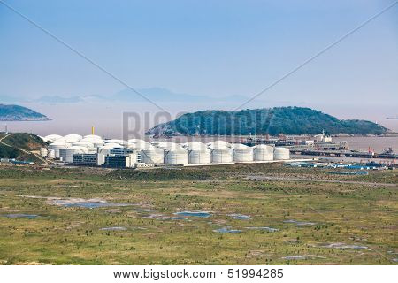 Oil Tanks At The Port