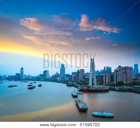 Shanghai Bund At Dusk