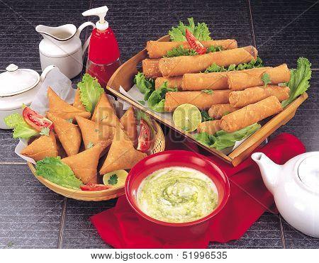 Samosa & Spicy Rolls