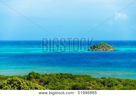 Island And Blue Sea