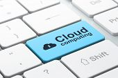 stock photo of keyholes  - Cloud computing concept - JPG