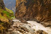 stock photo of leaping  - Tiger Leaping Gorge - JPG