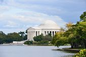 stock photo of thomas jefferson memorial  - Thomas Jefferson Memorial in Autumn - JPG