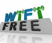 Free W-ifi Shows Web Connection And Mobile Hotspots
