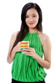 An Attractive Asian Woman With Cup